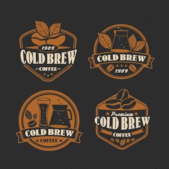 Colección de etiquetas de café frío