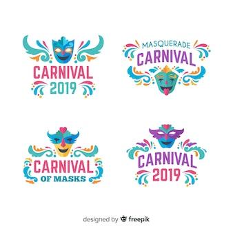 Colección de etiquetas de carnaval