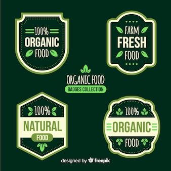 Colección etiquetas comida orgánica