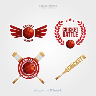 Colección de etiquetas de cricket