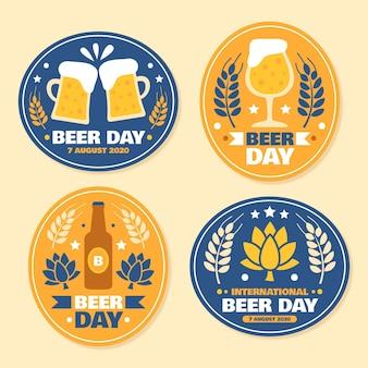 Colección de etiquetas del día de la cerveza