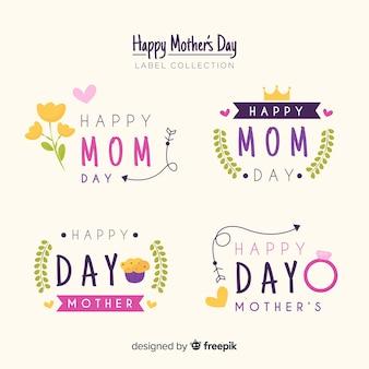 Colección etiquetas  día de la madre