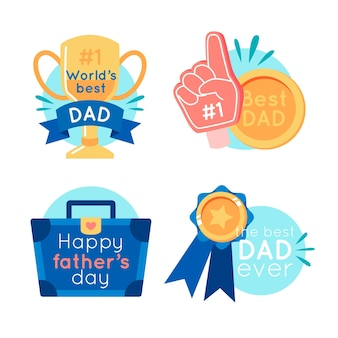 Colección de etiquetas del día del padre