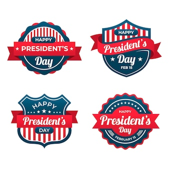 Colección de etiquetas del día del presidente