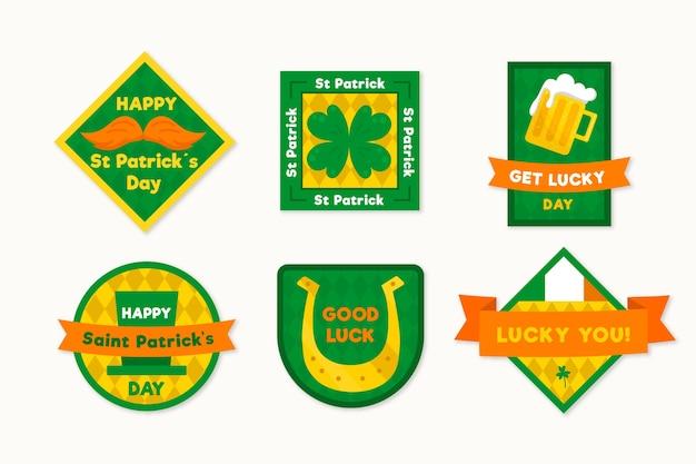 Colección de etiquetas del día de san patricio