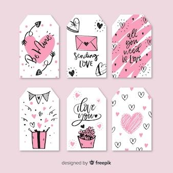 Colección etiquetas día de san valentín