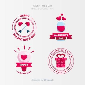 Colección de etiquetas de día de san valentín