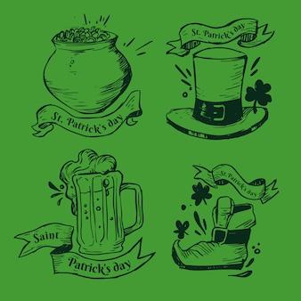 Colección de etiquetas / distintivos del día de san patricio