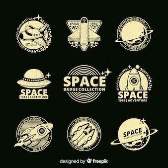 Colección de etiquetas del espacio