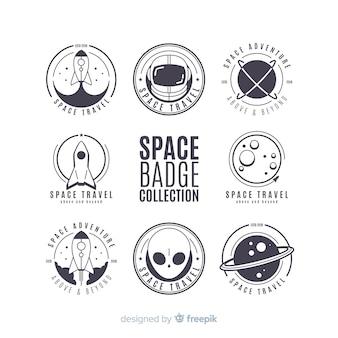 Colección de etiquetas de espacio