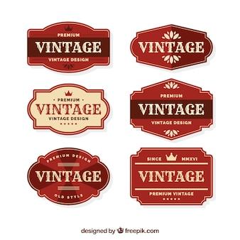 Colección de etiquetas con estilo vintage