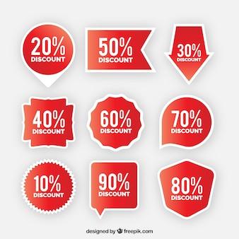 Colección de etiquetas/ insignias planas de venta
