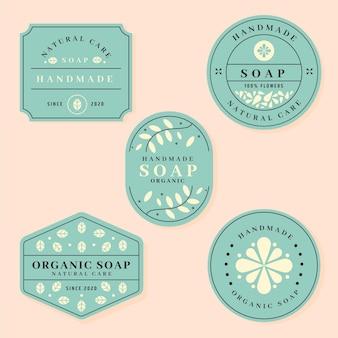 Colección de etiquetas de jabón