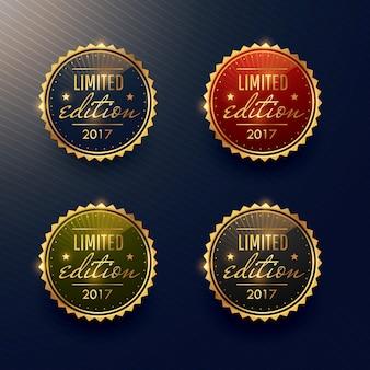 Colección de etiquetas de lujo doradas