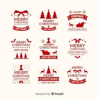 Colección de etiquetas de navidad bonitas