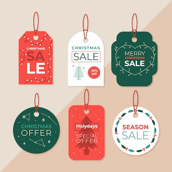 Colección de etiquetas navideñas