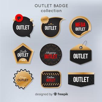 Colección etiquetas outlet