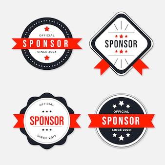 Colección de etiquetas de patrocinador