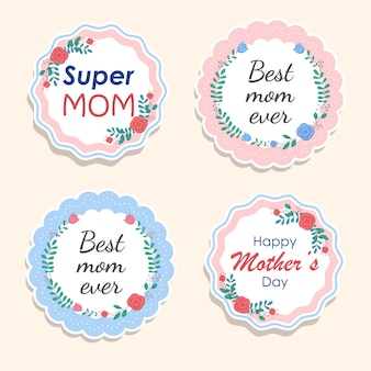 Colección de etiquetas de regalo feliz día de las madres