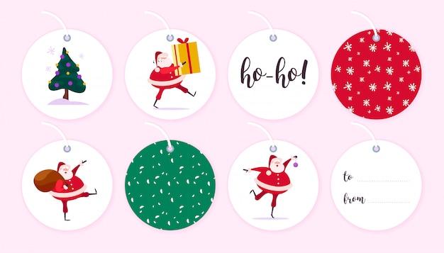 Colección de etiquetas de regalo de navidad