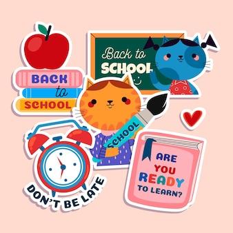 Colección de etiquetas de regreso a la escuela