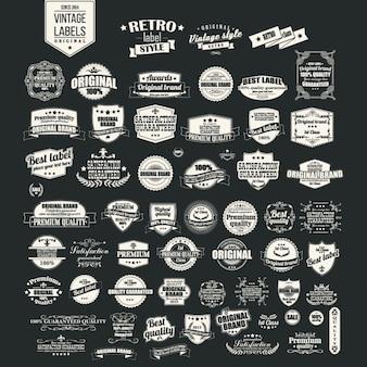 Colección de etiquetas retro