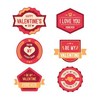 Colección de etiquetas de san valentín