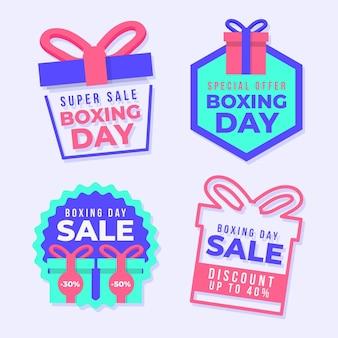 Colección de etiquetas de venta de boxing day