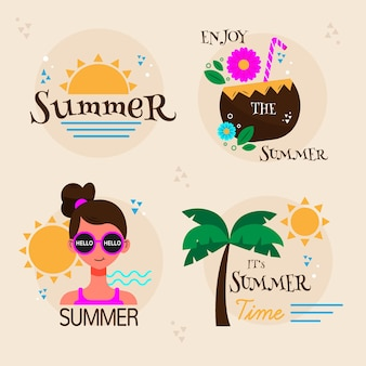 Colección de etiquetas de verano