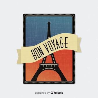 Colección de etiquetas de viaje vintage en diseño plano