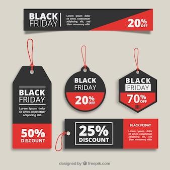 Colección de etiquetas de viernes negro