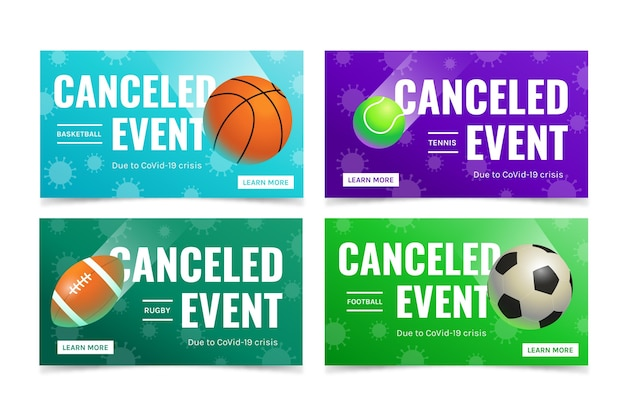 Colección de eventos deportivos cancelados.