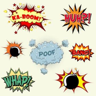 Colección de explosiones de comic