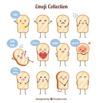 Colección fantástica de tostadas expresivas