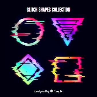 Colección de figuras geométricas con distorsión