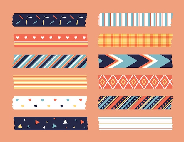 Colección flat washi tape