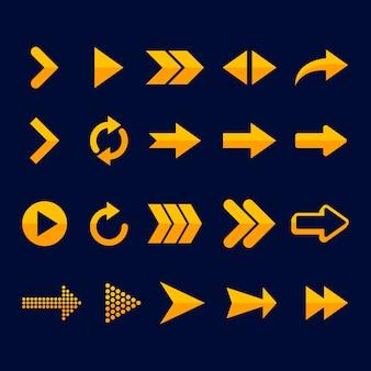 Colección flecha plana