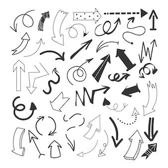 Colección flechas dibujadas a mano