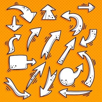 Colección de flechas de dibujos animados