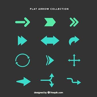 Colección de flechas diferentes para marcar