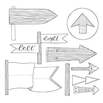 Colección de flechas de dirección