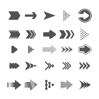 Colección de flechas de diseño plano vector gratuito