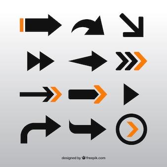 Colección de flechas modernas