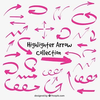 Colección de flechas de rotulador