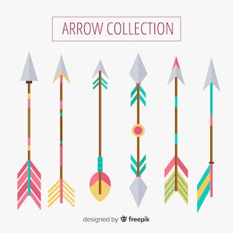 Colección de flechas tribales