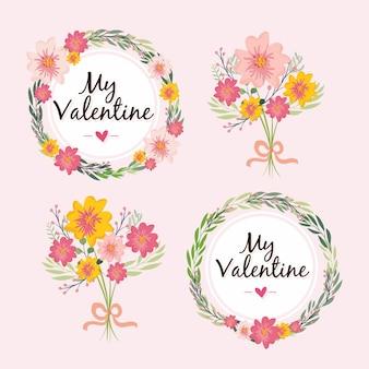 Colección de flores de san valentín