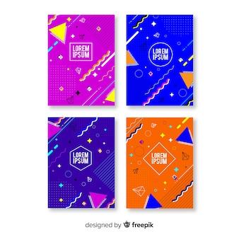 Colección folletos estilo memphis