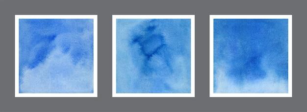 Colección de fondo abstracto acuarela azul
