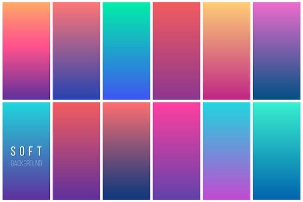 Colección de fondo abstracto colorido vector