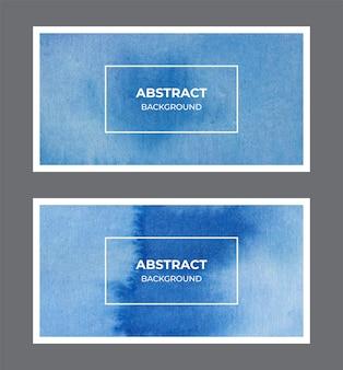 Colección de fondo azul acuarela banner web